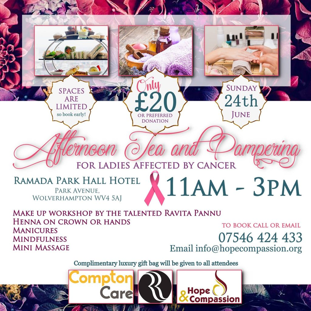 Afternoon Tea and Pampering for Ladies affected by Cancer